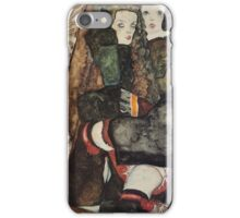 Egon Schiele - Two Girls On A Fringed Blanket 1911 iPhone Case/Skin
