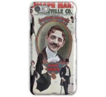 Performing Arts Posters Joseph Hart Vaudeville Co direct from Weber Fields Music Hall New York City 0348 iPhone Case/Skin