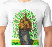 Green tree of life with Saint Mary according Raphael  005 11 09 Unisex T-Shirt