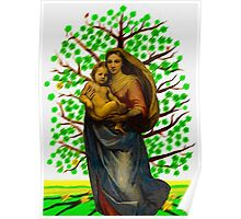Green tree of life with Saint Mary according Raphael  005 11 09 Poster