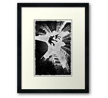 Mecha Flight Framed Print