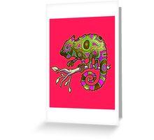 Chameleon (Pink Blaze) Greeting Card