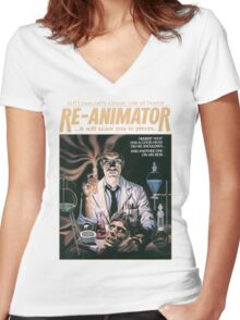 Re-Animator Tshirt! Women's Fitted V-Neck T-Shirt