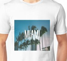 Miami palmtrees sunflare buildings Unisex T-Shirt
