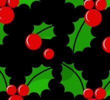 Christmas berries pattern Sticker