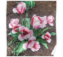 Pretty Spring Tulips Poster