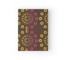 Ornament from halfway flowers Hardcover Journal