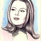 Diana Rigg miniature by wu-wei