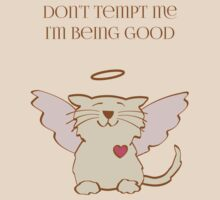 Don't Tempt Me, Angel Cat by Sue Cervenka