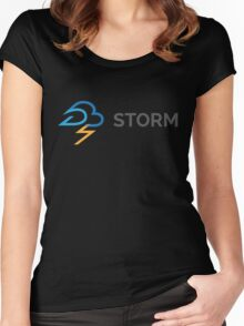 apache storm hadoop logo Women's Fitted Scoop T-Shirt