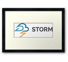 apache storm hadoop logo Framed Print