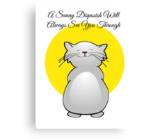 Sunny Disposish Cat Canvas Print
