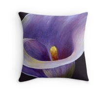 Lavender Calla Lily Throw Pillow