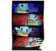 Happy Squirtle Ninjas Poster