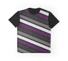 Asexual Flag Pattern Graphic T-Shirt