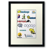 apache hadoop ecosystem sticker set Framed Print