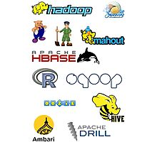 apache hadoop ecosystem sticker set Photographic Print
