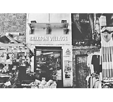 Brixton Village Entrance - Black & White Photographic Print
