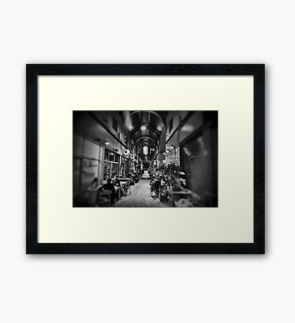 Inside Brixton Village Framed Print