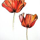 Poppies by LisaLeQuelenec