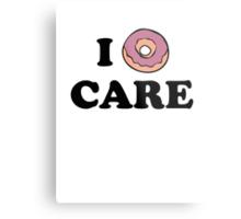 I Donut Care Metal Print