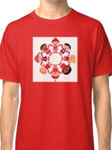 Cute winter kids in circle Classic T-Shirt