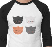 Cat Madness Men's Baseball ¾ T-Shirt