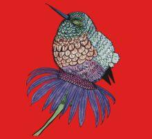 Fluffy Baby Hummingbird One Piece - Long Sleeve