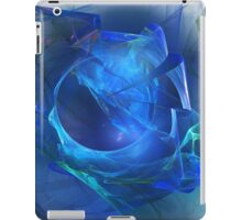Blue abstract flame iPad Case/Skin