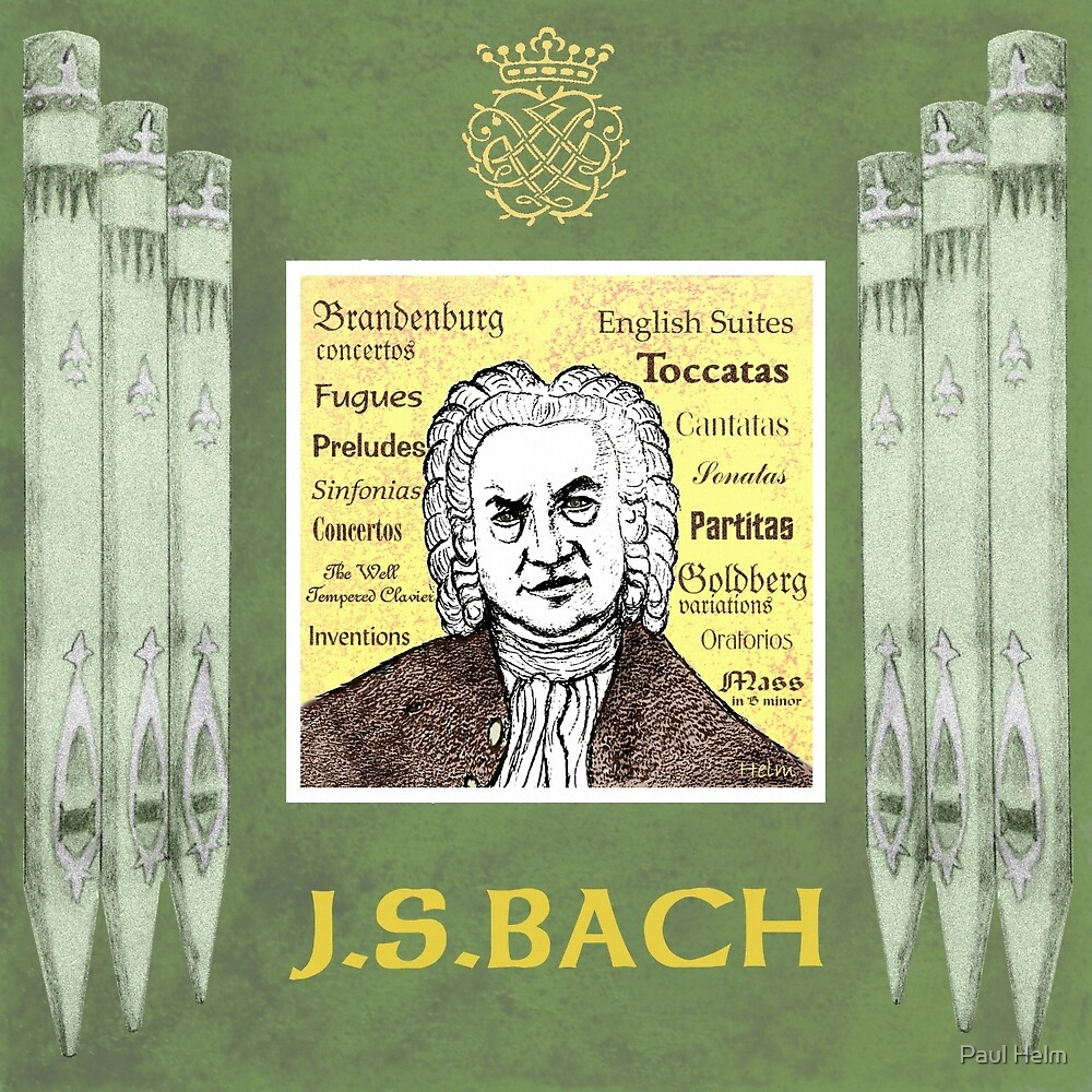 Bach Portrait by Paul Helm