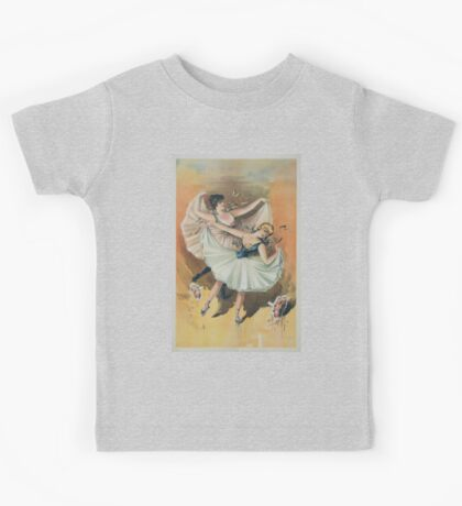 Performing Arts Posters Two ballerinas blond woman in front with brunette woman behind 2920 Kids Tee