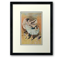 Performing Arts Posters Two ballerinas blond woman in front with brunette woman behind 2920 Framed Print