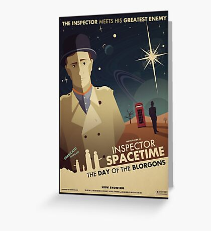 Inspector Spacetime: Day of the Blorgons Greeting Card