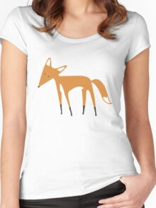 Foxy Pattern Women's Fitted Scoop T-Shirt