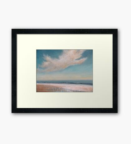 Wet Sand Reflections Framed Print