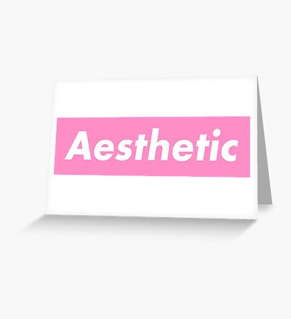 """'Ant/Inf' Pink """"Aesthetic"""" Variant Greeting Card"""