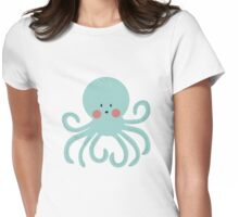Squid Pattern Womens Fitted T-Shirt