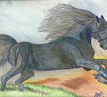 Majestic Arabian in Pencil by Karen L Ramsey