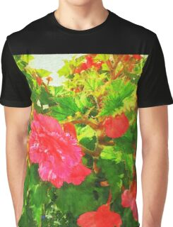 Red Begonia Graphic T-Shirt