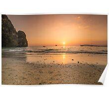 Railay Beach Sunset, Thailand Poster