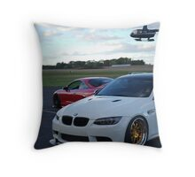 Heliopter runway Throw Pillow