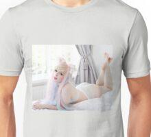 Pastel Bunny Girl Roll Over Unisex T-Shirt