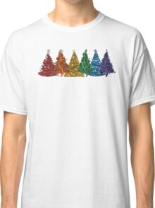 Rainbow Christmas Trees Classic T-Shirt