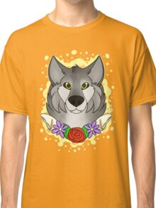 Floral Wolf Classic T-Shirt