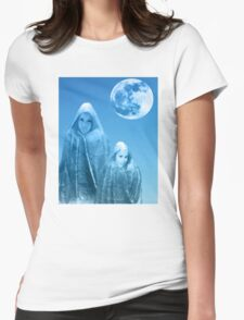 Full Moon Rising Womens Fitted T-Shirt