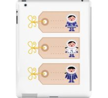 Blank retro christmas tags with cute Eskimos iPad Case/Skin
