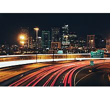Denver After Dark #3 Photographic Print