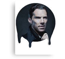 Benedict Cumberbatch- Dripping Portrait  Canvas Print