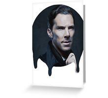 Benedict Cumberbatch- Dripping Portrait  Greeting Card