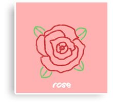 Minimal Rose Canvas Print